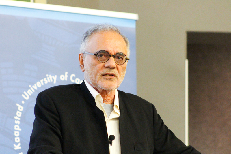 Professor Mahmood Mamdani's rousing TB Davie Memorial Lecture earned him two standing ovations – one before he started and the second upon ending.